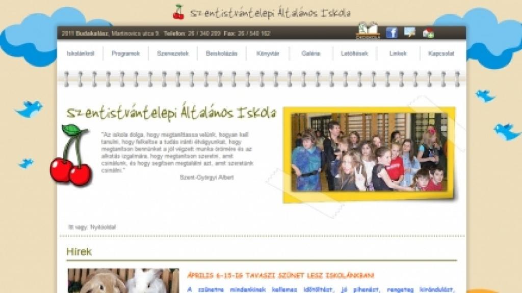 Joomla sablon készítése kapott grafika alapján - [szentistvantelepi-iskola.hu]