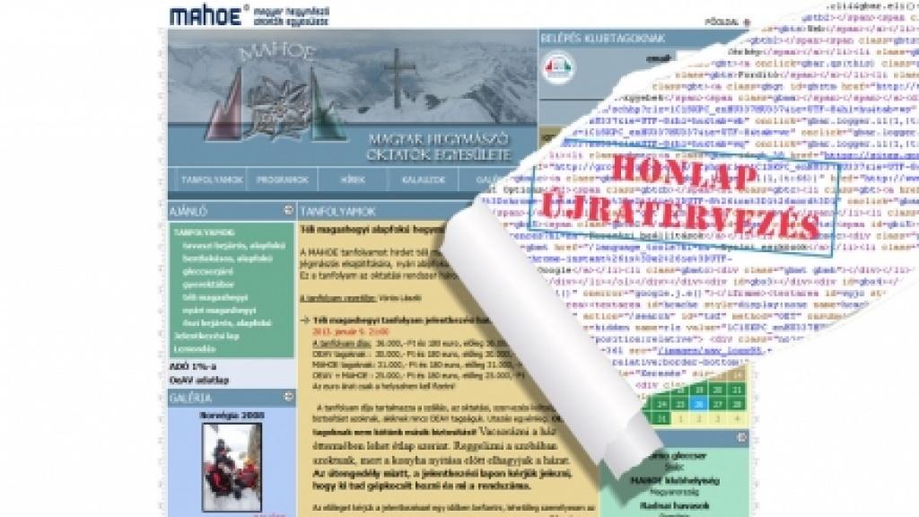 Honlapfelújítás, honlap újratervezés - [mahoe.hu]