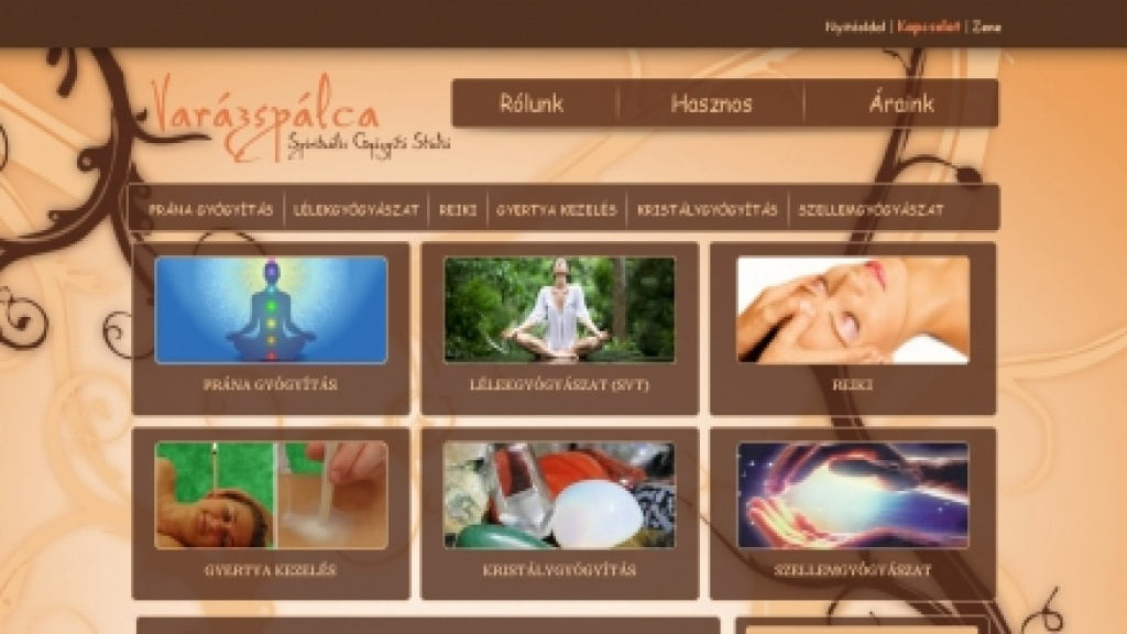 Joomla salbon készítés, meglévő arculat webesítése - [varazspalca]