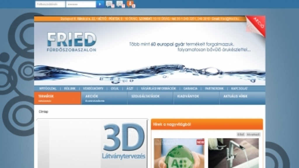 Webgrafika készítése, webáruház sablon készítés [fried.hu]